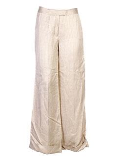 elo pantalons femme de couleur beige
