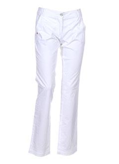 caractere pantalons et decontractes femme de couleur blanc