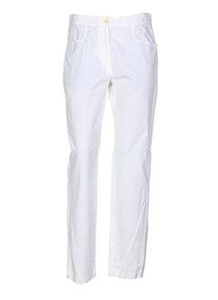bensimon pantalons et decontractes femme de couleur blanc