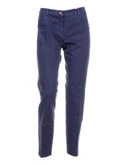 seventy by sergio tegon pantalons femme de couleur bleu