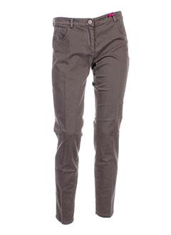 seventy by sergio tegon pantalons femme de couleur marron