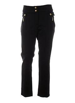 caroline biss pantalons femme de couleur noir