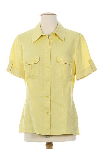 concept k chemises femme de couleur jaune