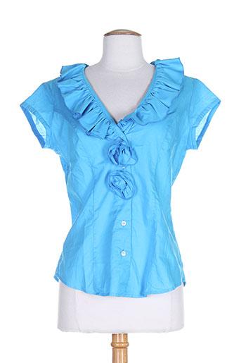 gaia boldetti chemises femme de couleur bleu