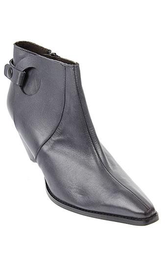 stephane et gontard boots femme de couleur bleu