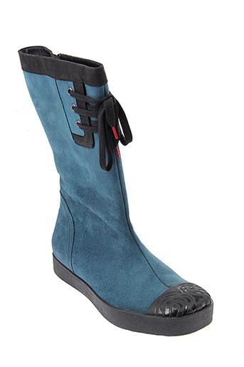 think bottes femme de couleur bleu
