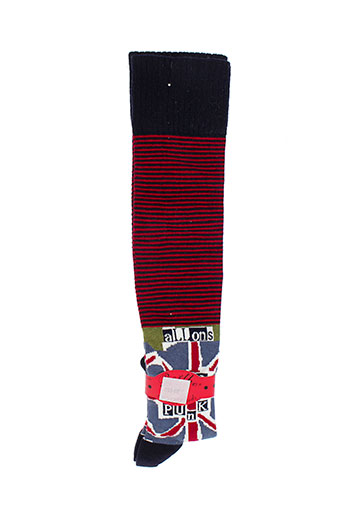 berthe et aux et grands et pieds chaussette fille de couleur rouge