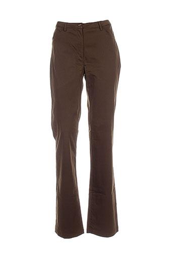 chervo sport pantalons femme de couleur marron