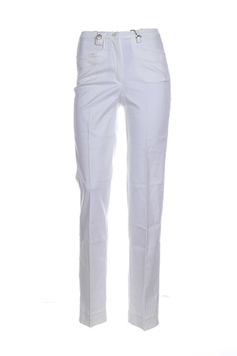 belfe pantalons femme de couleur blanc