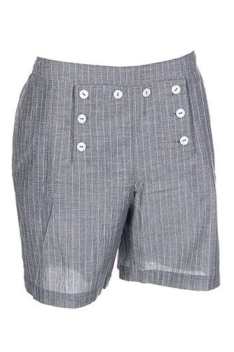 marie.valois shorts / bermudas femme de couleur gris