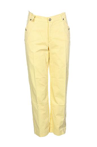 dismero pantacourts femme de couleur jaune