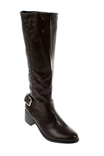 raxmax bottes femme de couleur marron