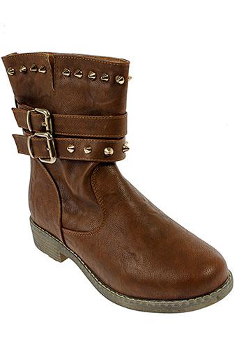 la et bottine et souriante boots femme de couleur marron
