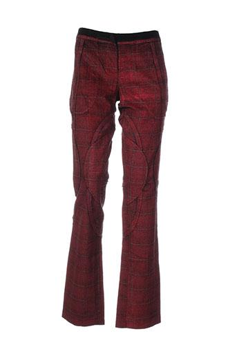 my et pants pantalons et decontractes femme de couleur rouge