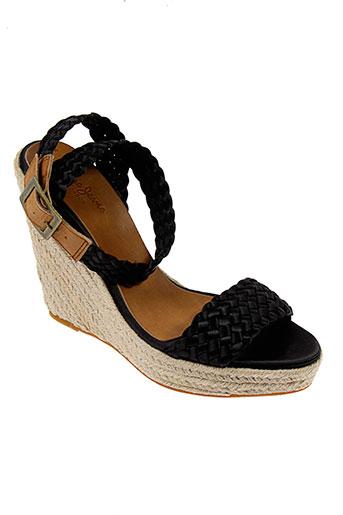 pepe et jeans sandales et nu et pieds femme de couleur noir