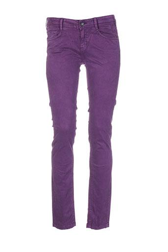 kaporal pantalons et decontractes femme de couleur violet