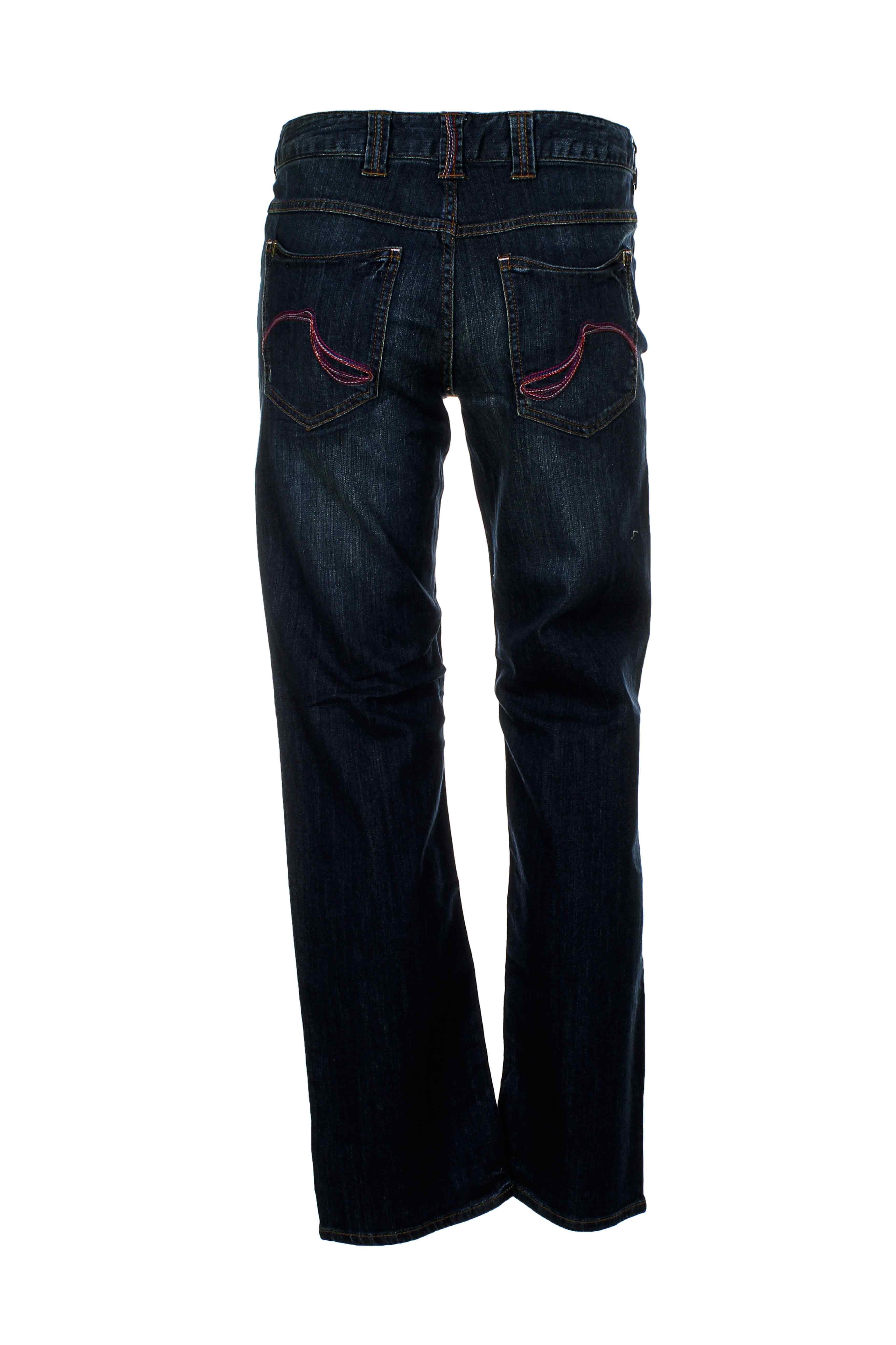Ddp Jeans Coupe Droite Femme De Couleur Bleu En Soldes Pas Cher 667042-bleu00 - Modz