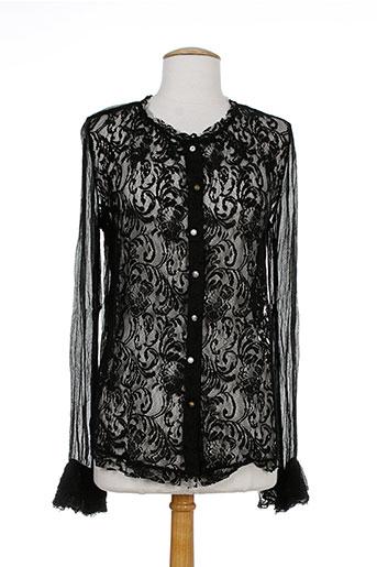 nana nucci chemises femme de couleur noir