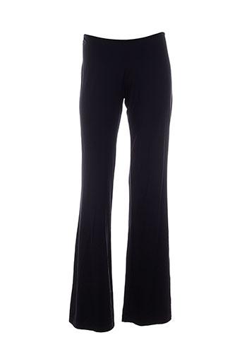 legatte pantalons femme de couleur noir