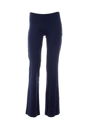 legatte pantalons femme de couleur bleu
