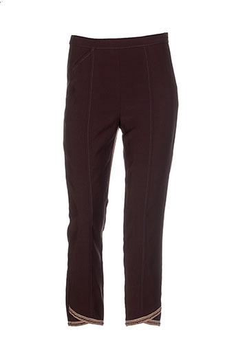 enjoy pantalons et citadins femme de couleur marron