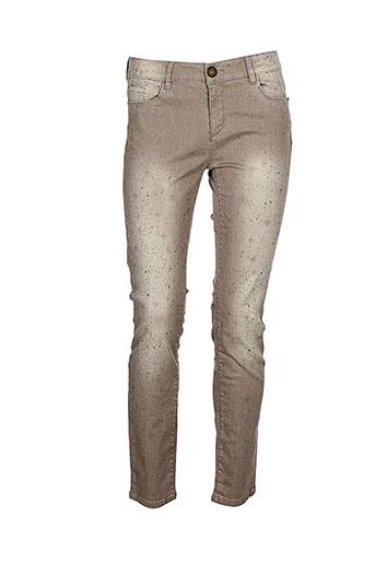 may&june pantalons femme de couleur beige