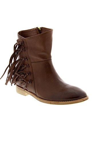 liu et jo boots femme de couleur marron