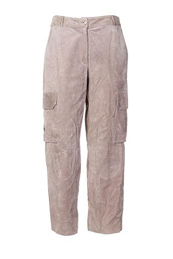 armand ventilo pantalons femme de couleur beige