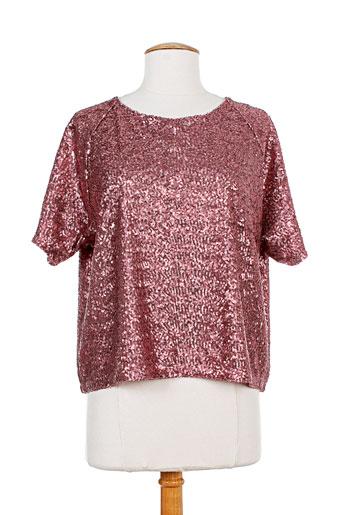essentiel t et shirts et tops femme de couleur rose