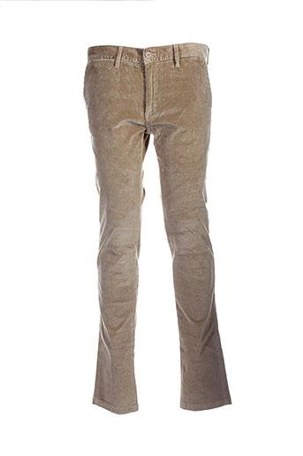 scapa pantalons homme de couleur beige
