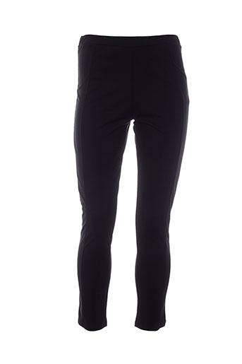 carole richard pantalons femme de couleur noir