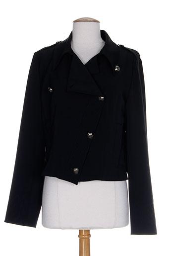 jc trigon vestes femme de couleur noir