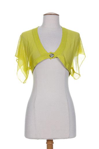 legatte vestes femme de couleur jaune