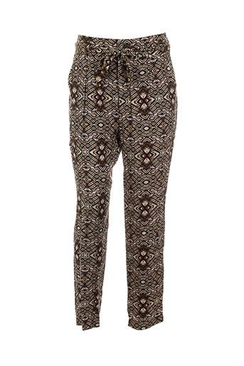 wom EFFI_CHAR_1 now pantalons femme de couleur marron