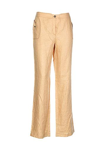 my way pantalons femme de couleur orange