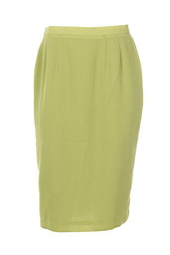 jean biolay jupes femme de couleur vert