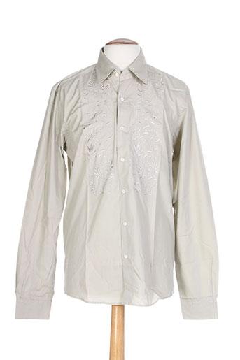 pierre clarence chemises homme de couleur beige