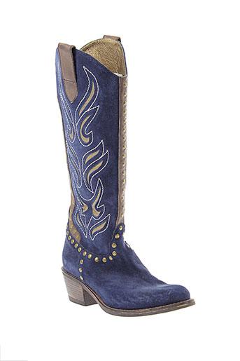 janet et janet bottes femme de couleur bleu
