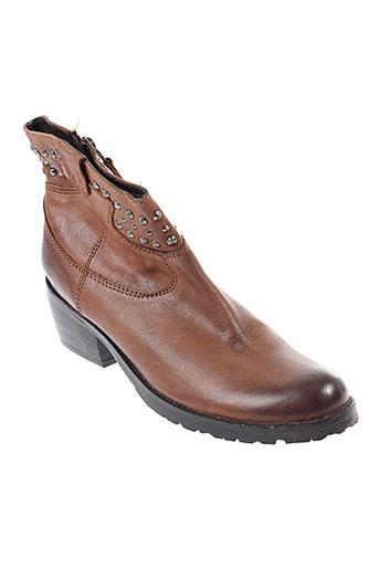 lola et cruz boots femme de couleur marron