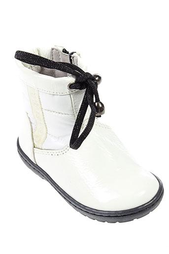 romagnoli bottines fille de couleur blanc