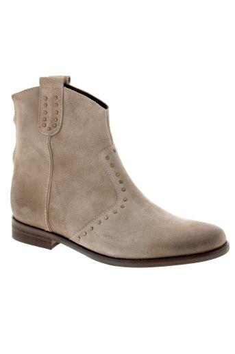 bisous et confiture boots femme de couleur gris