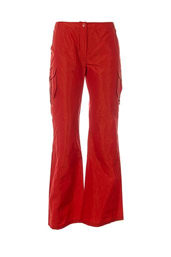 batiste pantalons femme de couleur orange