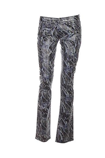 renhsen pantalons femme de couleur gris
