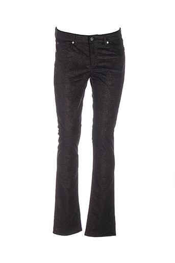 renhsen pantalons femme de couleur noir