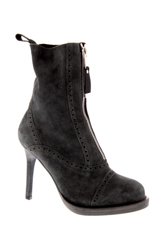 high bottines femme de couleur gris