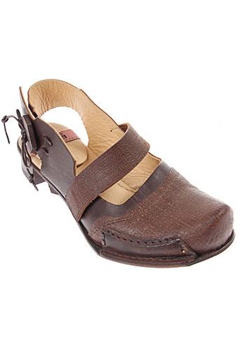 rodà chaussures femme de couleur marron