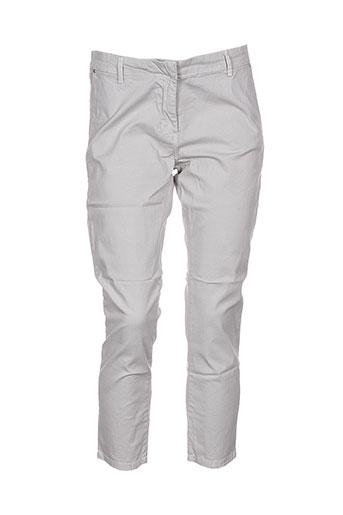 gaudi pantalons femme de couleur gris