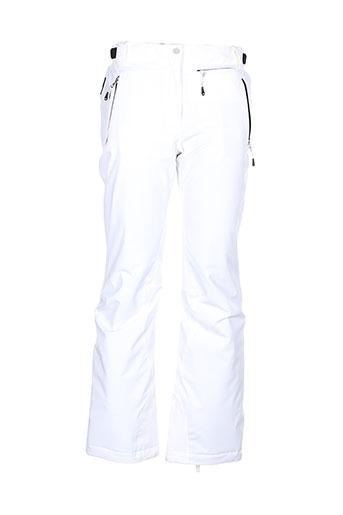 vuarnet pantalons et decontractes femme de couleur blanc