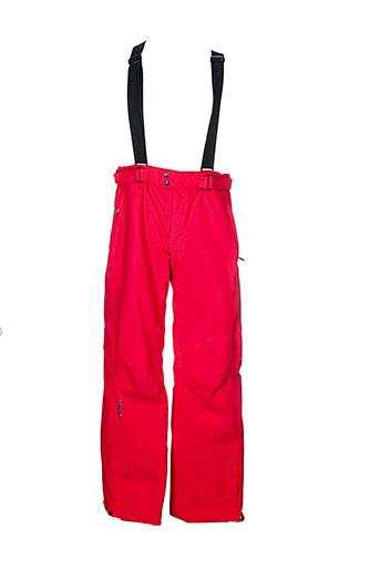 goldwin pantalons homme de couleur rouge