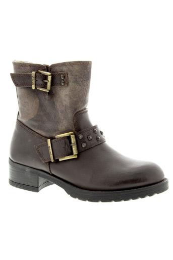 gaudi boots femme de couleur marron